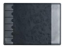 ARLAC Schreibunterlage schwarz mit Fächern