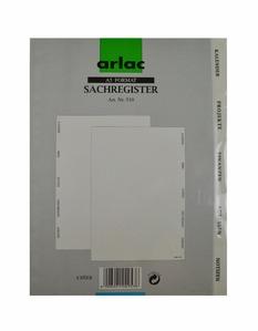 Arlac Sachregister 510