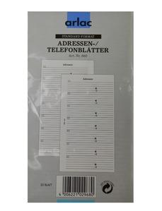 ARLAC Adress-/Telefonblätter 660