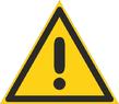 Warnzeichen 102 - klein
