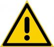 Warnzeichenfolie 0102  - klein