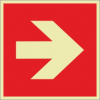 Brandschutzzeichenfolie 02503  - klein
