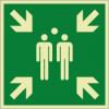 Rettungszeichenfolie 02606  - klein