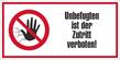 Verbotszeichenfolie 10752  - klein