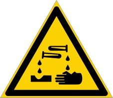 Warnzeichenschild 0107