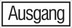 Kunststoffschild 50220
