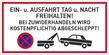 Verbotszeichenschild 60756  - klein