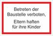 Verbotszeichenschild 60768  - klein