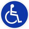 Gebotszeichenschild 70401  - klein