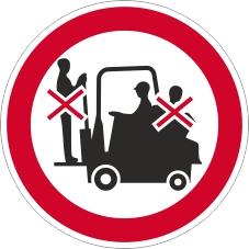 Verbotszeichenschild 0717