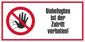 Verbotszeichenschild 80752