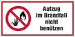 Verbotszeichenschild 80758  - klein