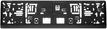 Kennzeichenhalter 530 x 143 mm  - klein