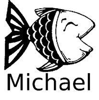 Taucherstempel Fisch mit Name