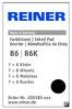 REINER Filzfassung  B6 8-stellig  - klein
