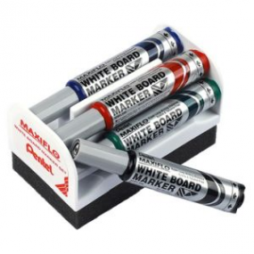 Pentel Whiteboard Set MWL5M-4