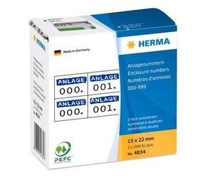 Herma 4833 Etiketten mit Anlagenummern