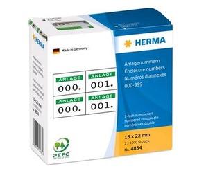 Herma 4834 Etiketten mit Anlagenummern