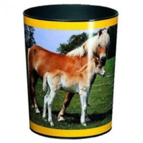 Läufer Motiv-Poster Papierkorb Pferd + Fohlen 26557
