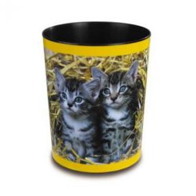 Läufer Motiv-Poster Papierkorb Katzen im Stroh 26654