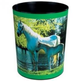 Läufer Motiv-Poster Papierkorb Pferd + Fohlen am See 26658