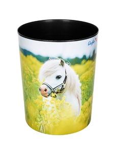 Läufer Papierkorb Pferd Rapsfeld