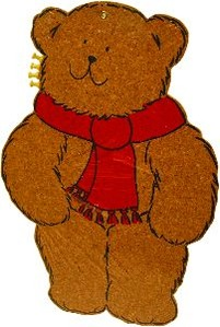 Pinwand für Kinder Bär