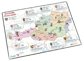 Läufer Motiv-Poster Schreibunterlage 45345 Entdecke Österreich