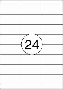 Rillstab Rillprint Etiketten 59127