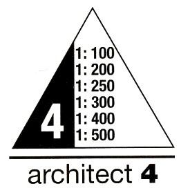 Maßangaben für Dreikantmaßstab Architekt 5