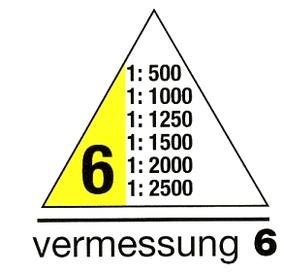 Maßangaben für Dreikantmaßstab Vermessung 6