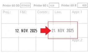 Colop Printer 60 Dater RECHTS