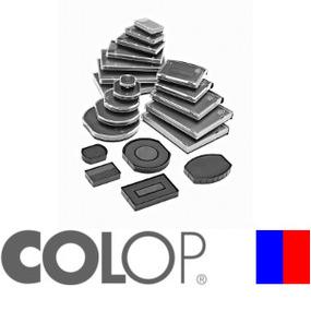 Colop Ersatzkissen E/R50 rund blau/rot