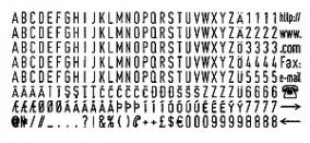 Colop Alpha-numeric Type Set 4mm