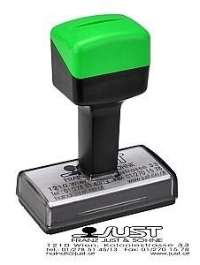 Nowo 2525 Handstempel - grün