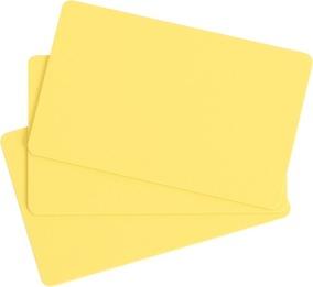 100 Stk. EVOLIS Plastikkarten gelb, Lebensmittelzertifiziert