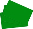 100 Stk. EVOLIS Plastikkarten grün, Lebensmittelzertifiziert - klein