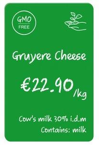 100 Stk. EVOLIS Plastikkarten grün, Lebensmittelzertifiziert