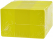 Plastikkarten gelb, 30mil,100 Stk. - klein
