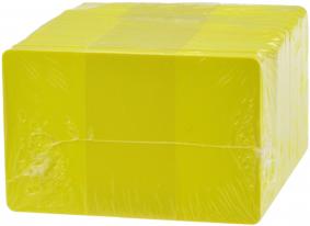 Plastikkarten gelb, 30mil,100 Stk.
