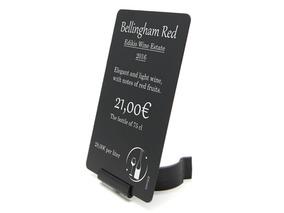 EVOLIS Kartenhalter für Weinflaschen, verstellbar, schwarz, 10er Set
