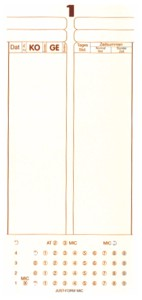 100 Stk.AMANO Stempelkarte F MIC