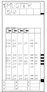 AMANO Stempelkarte F MX