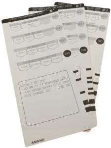 AMANO Programmierkartenset MX300