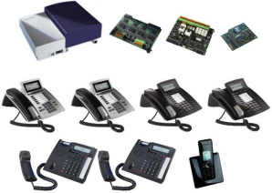 AGFEO Komplettsystem mit AS43 Up0 und 7 Telefonen