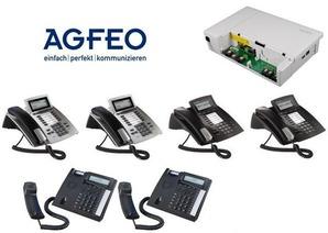 AGFEO Komplettsystem mit ES548 und 6 Telefonen
