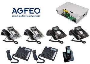 AGFEO Komplettsystem mit ES628 und 7 Telefonen