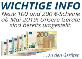 Neue 100 und 200 Euro-Scheine