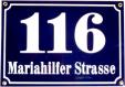 Hausnummernschild aus Email