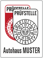 Plakette rot-weiß mit Wunschtext